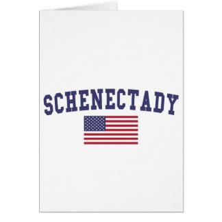 Schenectady US Flag Card