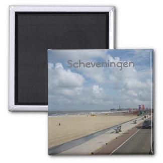 Scheveningen beach square magnet