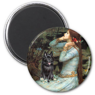 Schipperke 4 - Ophelia Seated Magnet