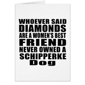 SCHIPPERKE DOG BEST FRIEND DESIGNS CARD