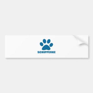 SCHIPPERKE DOG DESIGNS BUMPER STICKER