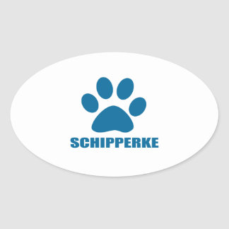 SCHIPPERKE DOG DESIGNS OVAL STICKER