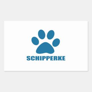 SCHIPPERKE DOG DESIGNS RECTANGULAR STICKER