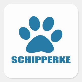 SCHIPPERKE DOG DESIGNS SQUARE STICKER