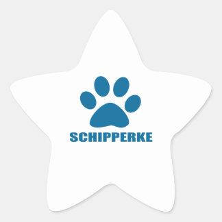 SCHIPPERKE DOG DESIGNS STAR STICKER
