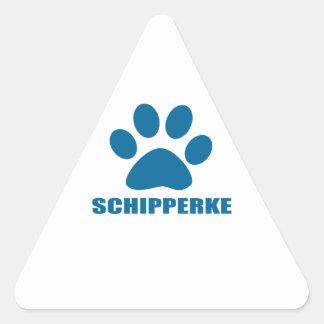 SCHIPPERKE DOG DESIGNS TRIANGLE STICKER