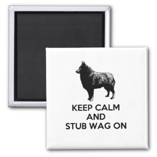 "Schipperke ""Keep Calm"" Square Magnet"