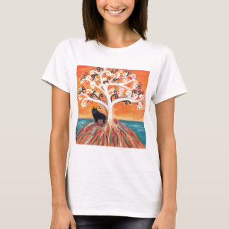 Schipperke love spiritual tree beauty of orange T-Shirt