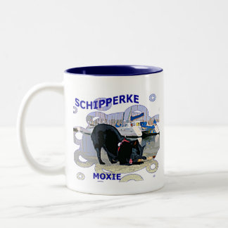 Schipperke Moxie Two-Tone Coffee Mug