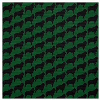 Schips On Green Fabric