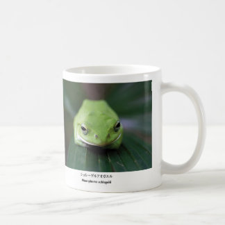 Schlegel's green tree frog basic white mug