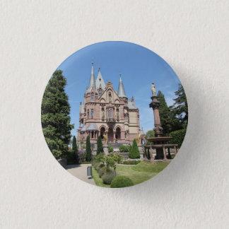 Schloss Drachenburg on Drachenfels 3 Cm Round Badge