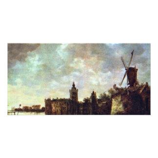 Schloß Montfort By Goyen Jan Van (Best Quality) Photo Cards