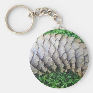 Schlüsselanhänger Tannzapfen auf Moos