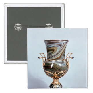 Schmelzglas by Salviati and Co. of Venice 15 Cm Square Badge