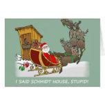 Schmidt House Cartoon Christmas Card