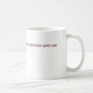 schmooze coffee mug