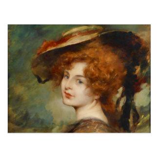 Schmutzler Lady Red Hair 2015 Calendar Postcard