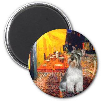 Schnauzer 11N - Terrace Cafe Magnet