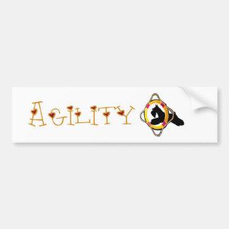 Schnauzer Agility Dog Sticker Bumper Sticker