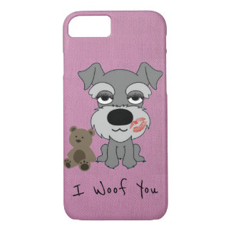 Schnauzer Apple iPhone 7, Barely There Phone Case