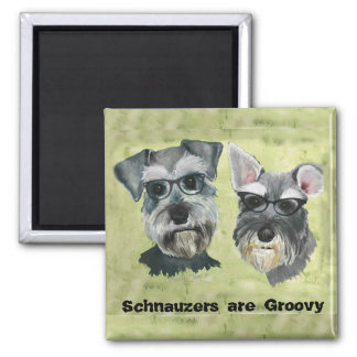 Schnauzer are Groovy Magnet