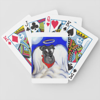 Schnauzer Bicycle Playing Cards