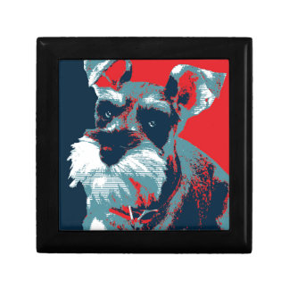 Schnauzer by Hope Dogs Small Square Gift Box