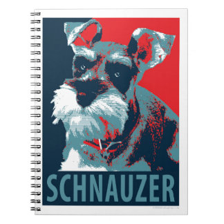 Schnauzer by Hope Dogs Spiral Notebook