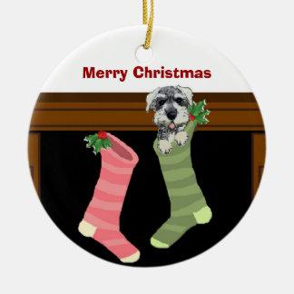 Schnauzer Christmas Ornament