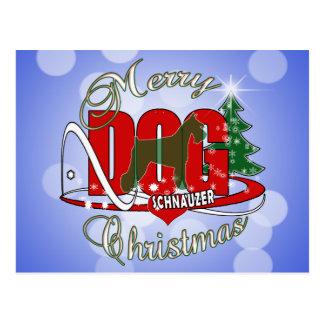 SCHNAUZER CHRISTMAS POSTCARD