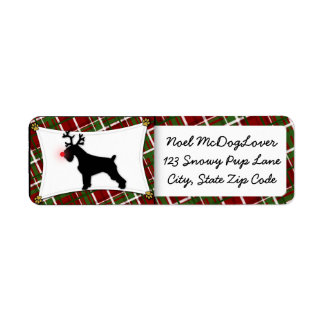 Schnauzer Christmas Return Address Label