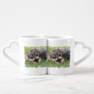 Schnauzer Dog Couple Mugs