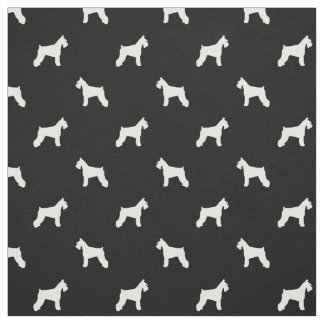 Schnauzer Dog Fabric - black and white