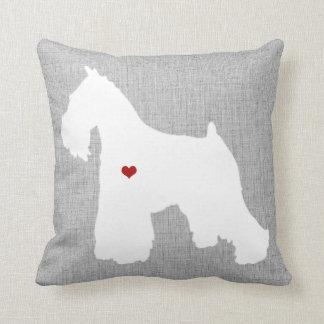 Schnauzer Dog Lover Heart Pet Cushion