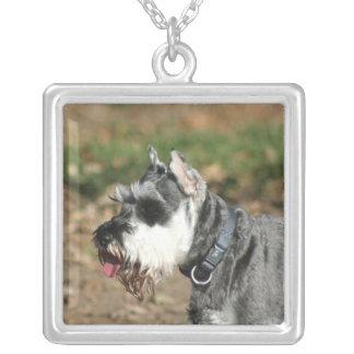 Schnauzer dog personalized necklace