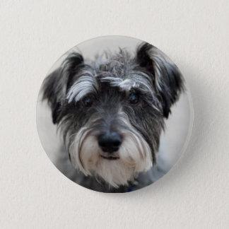 Schnauzer Dog Round Pin