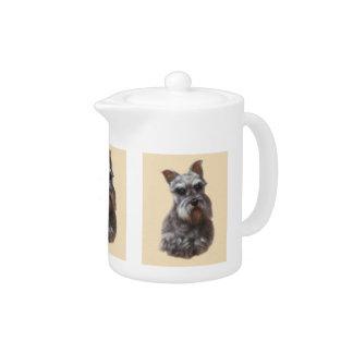 Schnauzer Dog Teapot