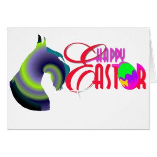 Schnauzer Easter Card