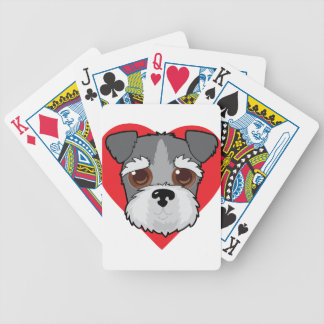Schnauzer Face Bicycle Playing Cards