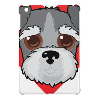 Schnauzer Face iPad Mini Covers