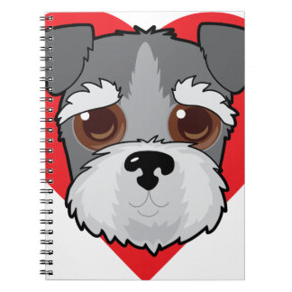 Schnauzer Face Spiral Notebook
