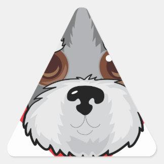 Schnauzer Face Triangle Sticker