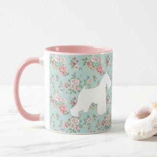 Schnauzer Flower Coffee Mug