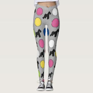 Schnauzer Funfetti Leggings