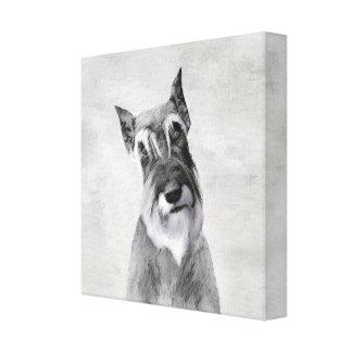 Schnauzer (Giant) - Cute Original Dog Art Canvas Print