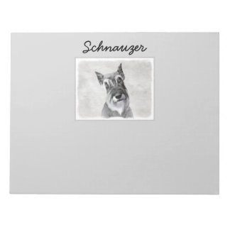 Schnauzer (Giant) - Cute Original Dog Art Notepad