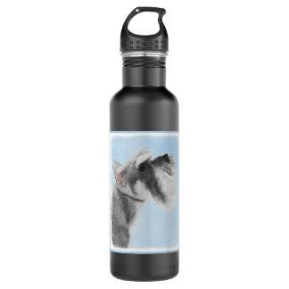 Schnauzer (Giant, Standard) 2 Painting - Dog Art 710 Ml Water Bottle
