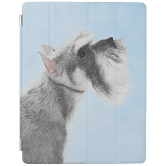 Schnauzer (Giant, Standard) 2 Painting - Dog Art iPad Cover