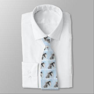 Schnauzer (Giant, Standard) 2 Painting - Dog Art Tie